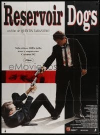 4j923 RESERVOIR DOGS French 1p 1992 Tarantino, different image of Harvey Keitel & Steve Buscemi!