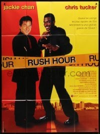 4j930 RUSH HOUR French 1p 1999 cool image of unlikely duo Jackie Chan & Chris Tucker!