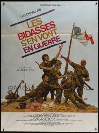 4j931 SADSACKS GO TO WAR French 1p 1975 French comic quartet Les Charlots messes up the military!