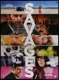 4j932 SAVAGES teaser French 1p 2012 portraits of top cast, drug thriller directed by Oliver Stone!
