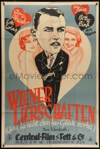 4j039 WIENER LIEBSCHAFTEN German 38x58 1931 Georg Alexander between Lotte Loring & Betty Bird!