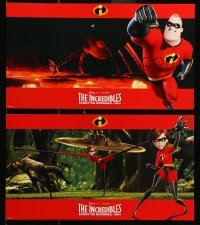 4j008 INCREDIBLES 8 10x17 LCs 2004 Disney/Pixar animated superhero family, cool widescreen images!