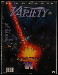 4j020 STAR TREK VI magazine December 2, 1991 Star Trek 25th anniversary special issue of Variety!