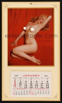 4j024 MARILYN MONROE commercial Golden Dreams calendar 1970s nude image from 1st Playboy centerfold!