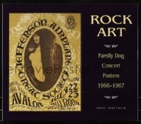 4j022 ROCK ART 13x15 print portfolio 1990 with 8 prints of 1966-1967 Family Dog Concert Posters!