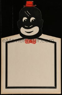 4j017 BLACKFACE DISPLAY die-cut 14x22 special poster 1920s used in a vaudeville theater, facing!