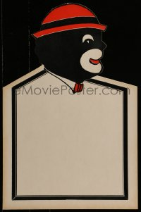 4j018 BLACKFACE DISPLAY die-cut 14x22 special poster 1920s used in a vaudeville theater, profile!