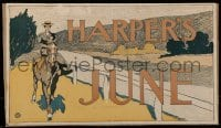 4j005 HARPER'S 10x16 advertising poster 1890s art of woman riding horse by Edward Pennfield