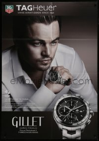 4j035 TAG HEUER 35x51 Swiss advertising poster 2010 watch advertisement with Leonardo DiCaprio!