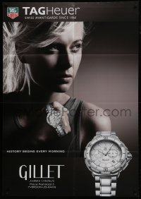 4j036 TAG HEUER 35x51 Swiss advertising poster 2010 watch advertisement with Maria Sharapova!