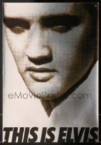 4j014 THIS IS ELVIS foil trade ad 1981 Elvis Presley rock 'n' roll biography, portrait of The King!