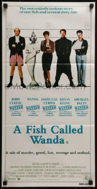 4k762 FISH CALLED WANDA Aust daybill 1988 John Cleese, Curtis, Kline & Palin in police line up!
