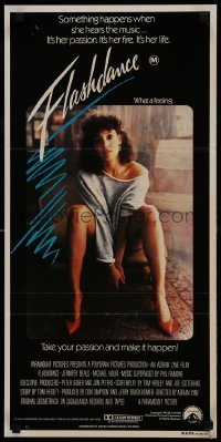 4k764 FLASHDANCE Aust daybill 1983 sexy dancer Jennifer Beals, take your passion & make it happen!