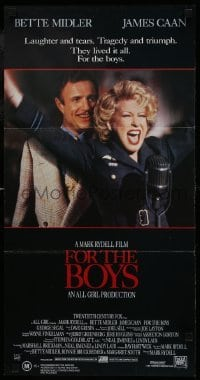 4k766 FOR THE BOYS Aust daybill 1992 Mark Rydell directed, Bette Midler, James Caan, George Segal