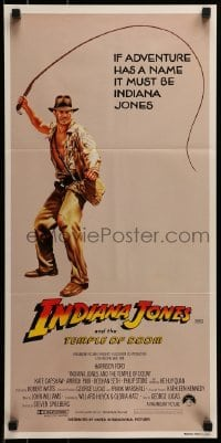 4k812 INDIANA JONES & THE TEMPLE OF DOOM Aust daybill 1984 adventurer Harrison Ford cracking whip!