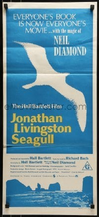 4k817 JONATHAN LIVINGSTON SEAGULL Aust daybill 1973 great bird image, from Richard Bach's book!