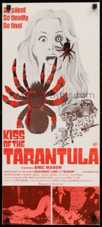 4k823 KISS OF THE TARANTULA Aust daybill 1975 wild horror art of big hairy spiders attacking people