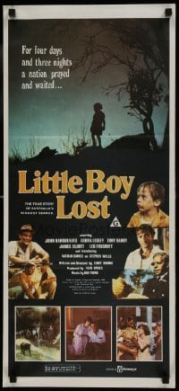4k835 LITTLE BOY LOST Aust daybill 1978 child missing four days in Australia!