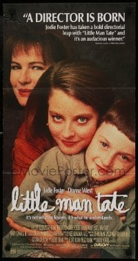 4k837 LITTLE MAN TATE Aust daybill 1992 director/star Jodie Foster, Dianne Wiest, David Hyde Pierce