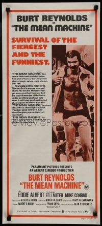 4k839 LONGEST YARD Aust daybill 1974 Robert Aldrich prison football sports comedy, Burt Reynolds!