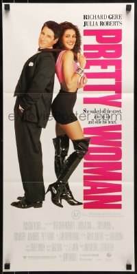 4k887 PRETTY WOMAN Aust daybill 1990 sexiest prostitute Julia Roberts loves wealthy Richard Gere!