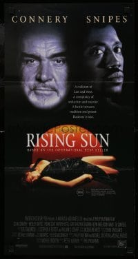 4k899 RISING SUN Aust daybill 1993 Sean Connery, Wesley Snipes, Harvey Keitel
