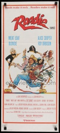4k900 ROADIE Aust daybill 1980 Meat Loaf, Alice Cooper, Debbie Harry from Blondie, Roy Orbison