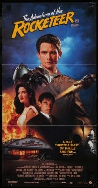 4k902 ROCKETEER Aust daybill 1991 Disney, different montage of Campbell, Jennifer Connelly & cast!