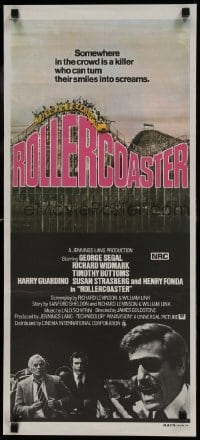 4k905 ROLLERCOASTER Aust daybill 1978 George Segal, Richard Widmark, Timothy Bottoms!