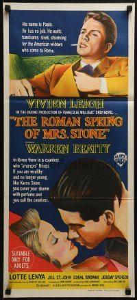 4k907 ROMAN SPRING OF MRS. STONE Aust daybill 1961 different art of Beatty & Vivien Leigh!