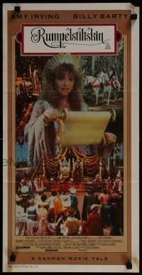 4k910 RUMPELSTILTSKIN Aust daybill 1987 Brothers Grimm fairy tale starring Amy Irving & Billy Barty!