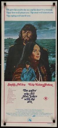 4k913 SAILOR WHO FELL FROM GRACE WITH THE SEA Aust daybill 1976 Kris Kristofferson & Sarah Miles!