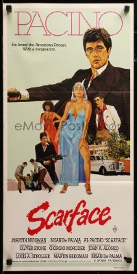 4k917 SCARFACE Aust daybill 1983 art of Al Pacino as Tony Montana, Michelle Pfeiffer!