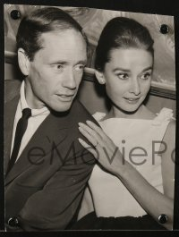 4k023 AUDREY HEPBURN/MEL FERRER 2 Swedish from 7.25x9.25 to 7.5x10.25 news photos 1959 one dancing!