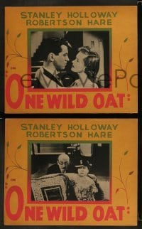 4k029 ONE WILD OAT 5 Canadian LCs 1951 Robertson Hare, Stanley Holloway, great border art!