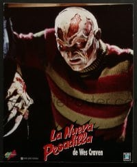 4k025 NEW NIGHTMARE 2 South American LCs 1994 different images of Robert Englund as Freddy Kruger!