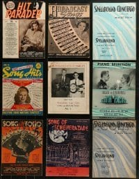 4m235 LOT OF 9 SONG MAGAZINES 1930s-1940s great music from a variety of different movies & more!