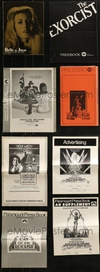 4m233 LOT OF 8 CUT PRESSBOOKS 1960s-1970s advertising for a variety of different movies!