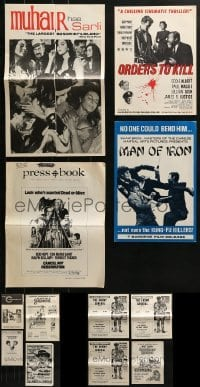 4m209 LOT OF 12 UNCUT PRESSBOOKS 1960s-1970s advertising for a variety of different movies!