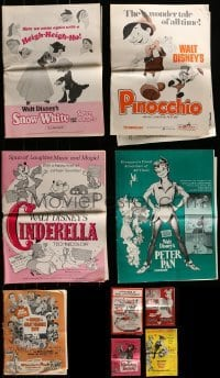 4m215 LOT OF 9 UNCUT DISNEY PRESSBOOKS 1960s-1970s advertising for a variety of movies!