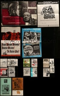 4m228 LOT OF 18 CUT PRESSBOOKS 1960s-1970s advertising for a variety of different movies!