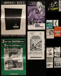 4m232 LOT OF 13 CUT HORROR/SCI-FI PRESSBOOKS 1950s-1960s advertising for a variety of movies!