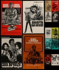 4m207 LOT OF 14 UNCUT BLAXPLOITATION PRESSBOOKS 1970s advertising for a variety of movies!