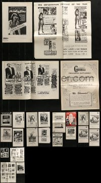 4m221 LOT OF 24 UNCUT PRESSBOOK SUPPLEMENTS 1960s-1970s advertising for a variety of movies!