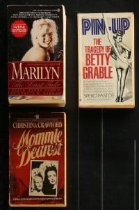 4m281 LOT OF 3 ACTRESS BIOGRAPHY PAPERBACK BOOKS 1970s-19990s Marilyn Monroe, Joan Crawford!