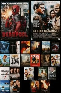 4m009 LOT OF 23 FORMERLY FOLDED FRENCH POSTERS 2000s-2010s a variety of cool movie images!