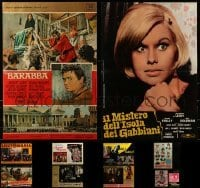 4m017 LOT OF 10 FOLDED MEDIUM ITALIAN PHOTOBUSTAS 1960s-1970s a variety of cool movie images!