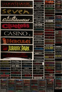 4m037 LOT OF 201 5X25 MYLAR MARQUEES 1990s title images from a variety of different movies!