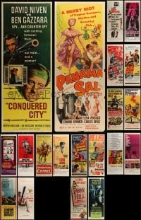4m023 LOT OF 20 MOSTLY UNFOLDED INSERTS 1960s great images from a variety of movies!