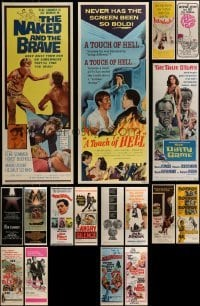 4m022 LOT OF 17 MOSTLY UNFOLDED INSERTS 1960s-1980s great images from a variety of movies!